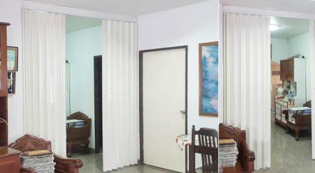 ผลงานติดฉากกั้นห้อง แบบทึบ ย่านหมู่บ้านพัดชา ย่านเทพารักษ์